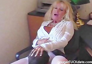 sexy granny cougar in stockings fucks a juvenile
