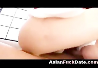 oriental mature gets filled with sperm