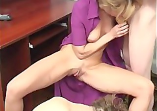 home russian mature mother with two boys