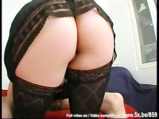 french bbw plays the bitch with 7 lads