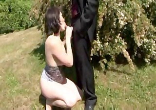 Naughty French brunette wife gets hammered