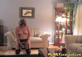 older milf undressed - retro nylons granny toy