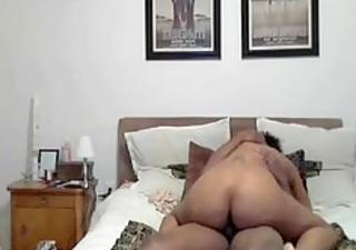 wife riding my hard ebony shlong darksome ebony