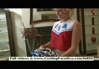 jasmine jolie amateur golden-haired cheerleader