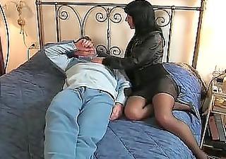 Brunette Italian Wife Goes To He