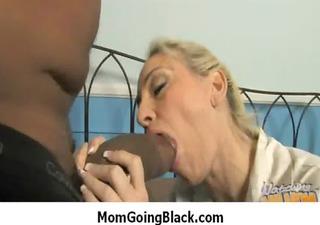Interracial milf porn - Mommy rides black monster