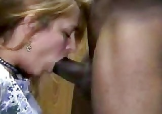 sexy blond wife interracial cuckold oral
