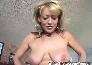 White Ghetto - Busty Mature love his cock